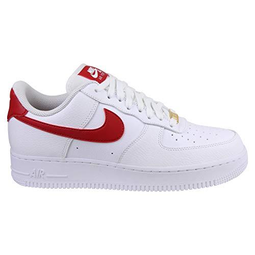 Nike Damen Women's Air Force 1 '07 Shoe Basketballschuhe, Mehrfarbig (White/Gym Red/Metallic Gold 110), 40.5 EU