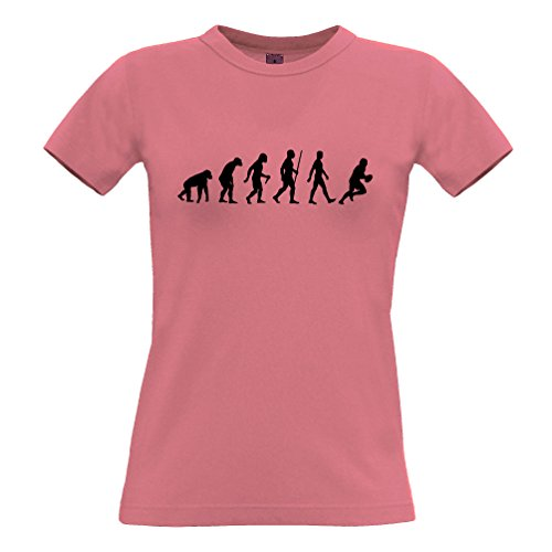 Evolution of Rugby-England-Team Sports Union Premier League Verein Frauen T-Shirt (Team England T-shirt Rugby)