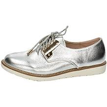 Zapato blucher plata H.F SHOES ZAPATOS CORDÓN talla 39 PLATA POLIPIEL