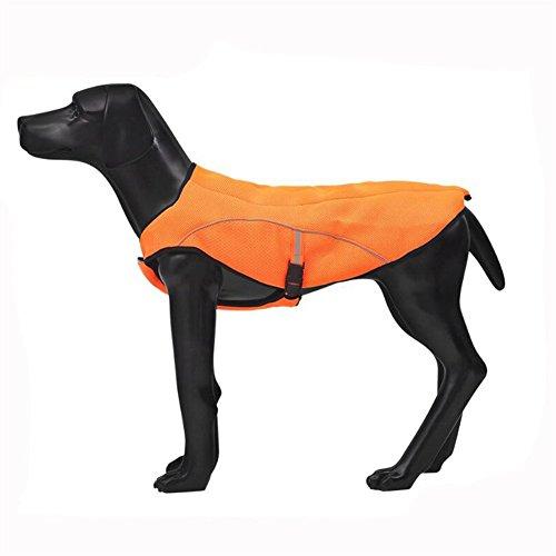 HomeYoo Hund Vest Kühlweste Evaporative Swamp Cooler Hundemantel, Jacke Sicherheit Reflektierende Kühl-Weste für große Hunde Walking Outdoor Jagd Training Camping (XXL) Nylon-walking-mantel