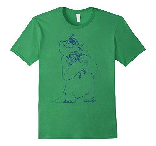 nsters Inc Kitty Mike Hug Boo Graphic T-Shirt Medium Grass (Kitty Monsters Inc)