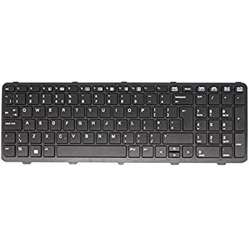 827028-031 837549-031 827029-001 837551-001 Laptop Black Keyboard with Frame Wikiparts* New UK Layout Keyboard Replacement For HP Probook 450 G3 Compatible with P//N