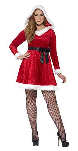 Smiffys 44886X1 - Damen Miss Santa Kostüm, Größe: 48-50, ()
