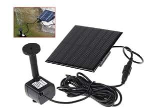 7v kleine solar panel angetriebene wasserpumpe brunnen f r garten teich gy d 001 amazon. Black Bedroom Furniture Sets. Home Design Ideas