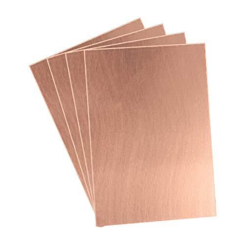 Sourcingmap Leiterplatte, einseitig, kupferbeschichtet, 7 x 10 cm, Braun, 4 Stück