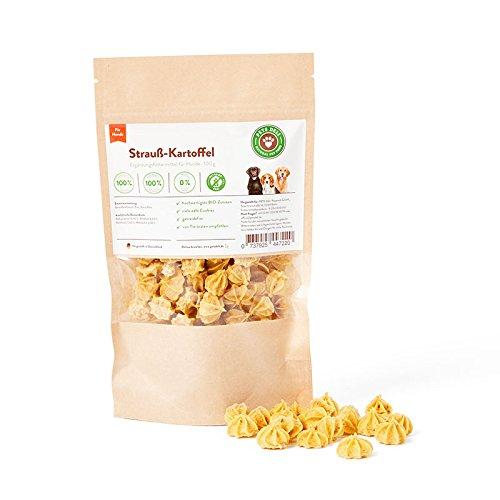 hundeinfo24.de Hundesnack, Hundekekse, Cookies Strauß-Kartoffel 100g | PETS DELI | Nahrungsergänzung für Hunde, Proteinreich, Leckerbissen für Hunde