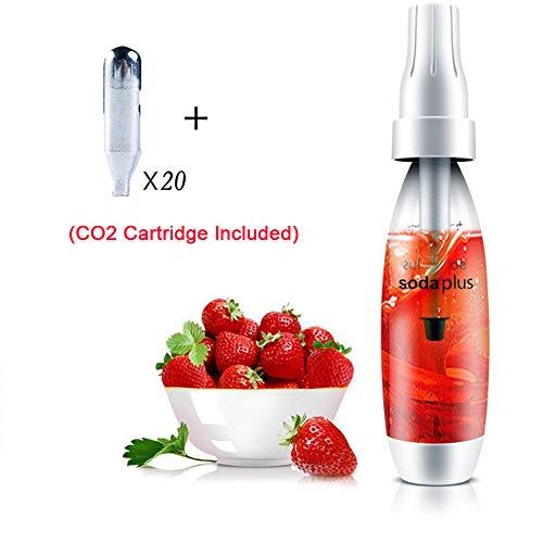 HXZB 1L Soda Siphon Gazéifiée Eau De Seltz Maker Maison Machine Boissons Pétillantes avec 20 Chargeurs Standard CO2