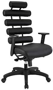 LexMod Pillow Office Chair, Black