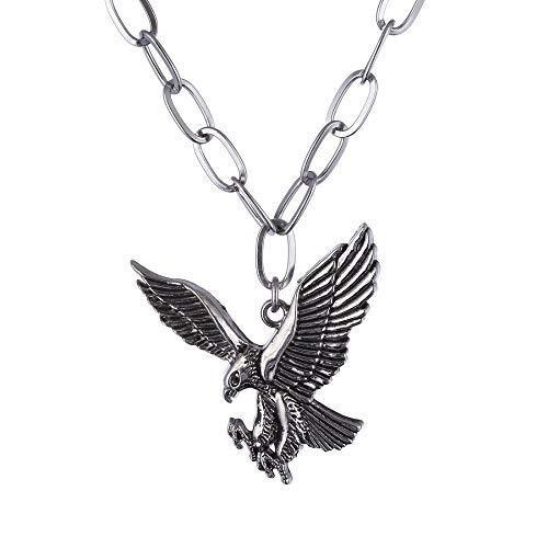 DADATU Halskette Für Männer Edelstahladlerkette Pendant Halskette Bird Punk Men Es Halskette Pistace Black Wing Schmuck Für Male