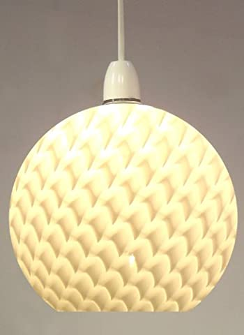 MGL6215-F 20cm Fishscale Glass Ball Ceiling Pendant