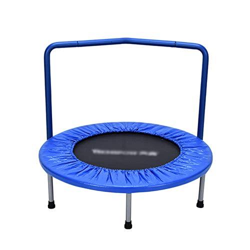 36-Zoll-Trampolin mit Handlauf Mini-Trampoline Portable Jogging Fitness Erwachsenen-und Kinder-Übung Ausrüstung Springen Bett (Farbe : Blau)