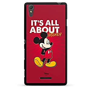 Sony Xperia T3 Hülle Case Cover Hard Case black - All About Mickey