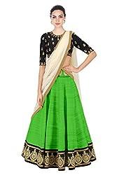 Omstar Fashion Lehenga Choli (OMAL_Green_Free Size )