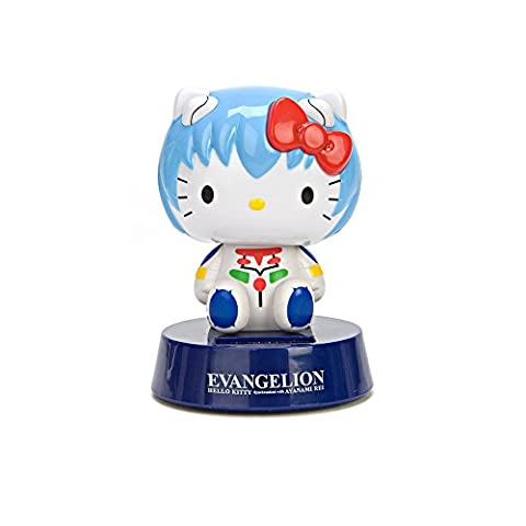 Evangelion X Hello Kitty Rei Ayanami Solar Powered Bobble Head Figure