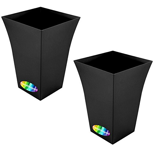 crazygadgetr-large-milano-tall-planter-square-plastic-garden-flower-plant-pot-gloss-finish-for-indoo