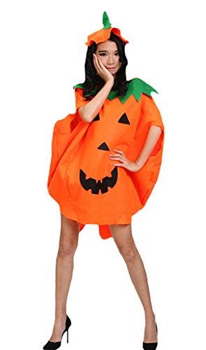 Petitebelle costume da zucca di Halloween partito indossare indumenti Unisex adulto Orange Etichettalia unica