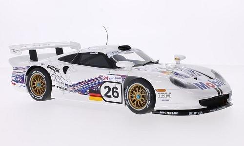 Porsche 911 GT1, No.26, 24h Le Mans, 1997, Modellauto, Fertigmodell, AUTOart 1:18