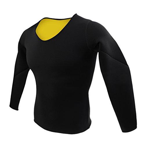 Prettyia Damen Sauna Shirt Neopren Schwitz Shirt, Langarm, Yoga Fitness Joggen Sport T-Shirt - L