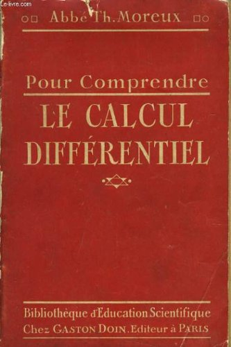 Pour comprendre le calcul differentiel