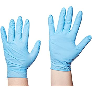 Pack of 100 Small Robust Plus 63886 Long Length Nitrile Powder Free Examination Glove 30 cm Blue
