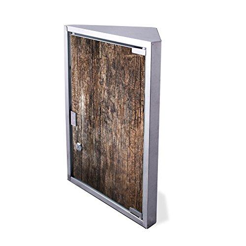Edelstahl Medizinschrank Eckschrank abschließbar 30x17,5x45cm Badschrank Hausapotheke Arzneischrank Bad Altes Holz