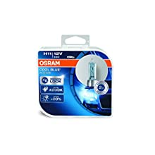 OSRAM COOL BLUE INTENSE H11, headlight bulb for halogen headlamps, xenon effect for white light, 64211CBI-HCB, 12 V passenger car, duobox (2 units)