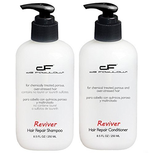 De Fabulous Reviver Shampoo and Conditioner Set (for chemically treated, porous and over-stressed hair) sulfate free (8.5 fl oz)  available at amazon for Rs.2100