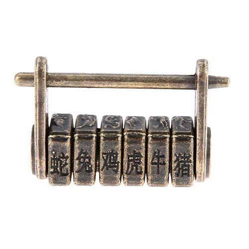 Retro Combinazione Di Blocco Password Contenitore Di Monili Padlock Mobili Decorazione Porta Bronzo Antico Chiave Lucchetto