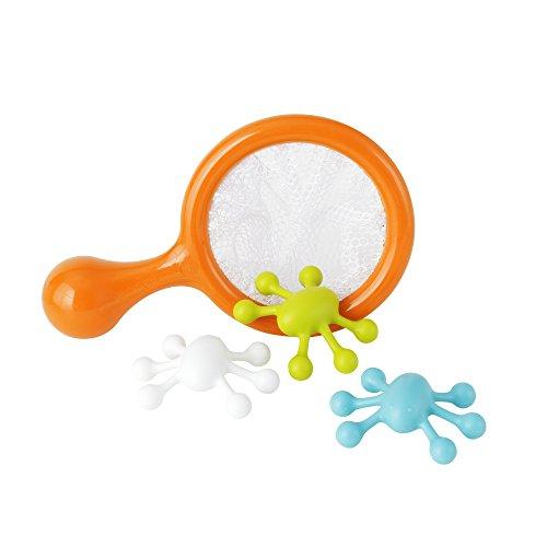 BOON WATER BUGS | Wasserspielzeug Set für Kinder ab 9 Monaten | Badewannenspielzeug | BpA-frei, Phthalate-frei und PVC-frei  | Lernspielzeug mit großem Spaßfaktor mit Fangnetz und Wassertieren | Ideal als Geschenk