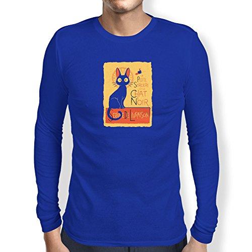 NERDO - Le Chat Noir - Herren Langarm T-Shirt, Größe S, marine