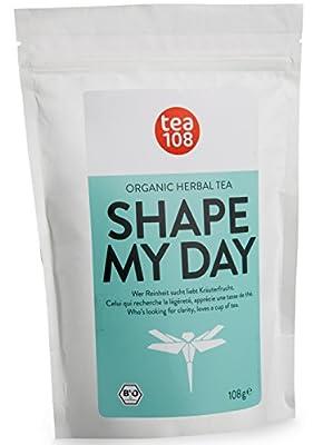 Tisane bio aux orties – 108 tasses de thé amincissant premium – ingrédients naturels – thé minceur, thé detox, cure bio – SHAPE MY DAY par Tea 108