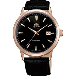 Orient Men's Symphony 41mm Black Leather Band Steel Case Automatic Analog Watch FER27002B0