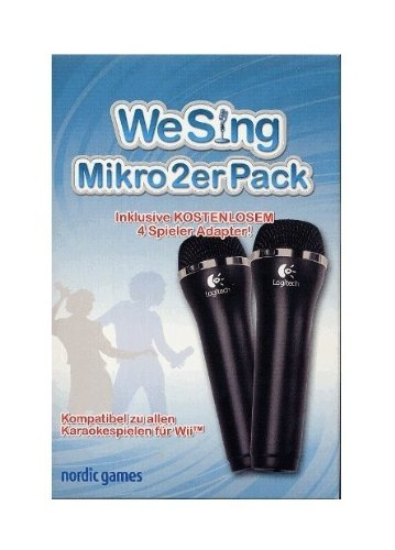Nordic Games- Micrófonos para Wii con USB Hub, Negro, 459 g