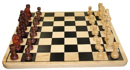 Idena-6100026-Schach-und-Dame-Spiel-aus-Holz