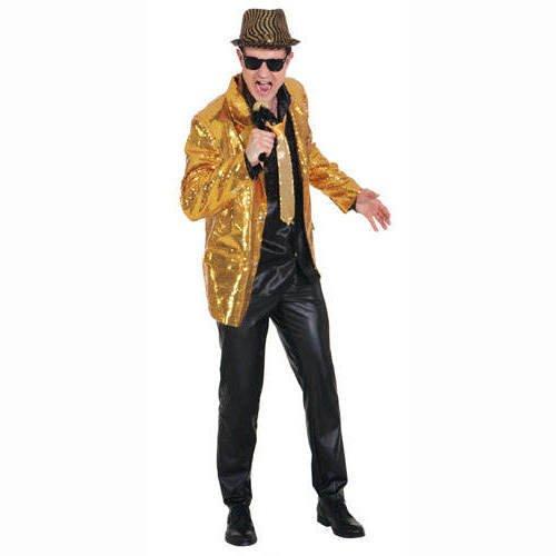 Preisvergleich Produktbild Faschingskostüm Herren Show Jacket mit Pailletten gold (52 / 54)