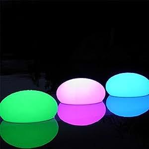 Lampe déco galet lumineux qui change de couleur - 12 cm