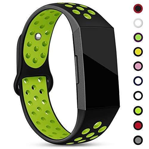 Onedream cinturini compatibile per fitbit charge 3 cinturino, braccialetto sport regolabile in silicone per fitbit charge 3 speciale edizione