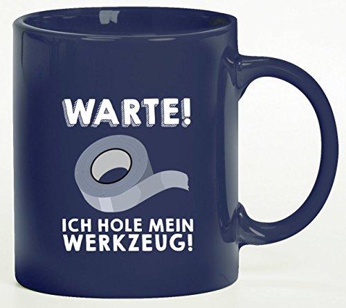 vanVerden Tasse Wenn Papa es nicht reparieren kann sind wir am Arsch Geschenk Farbe:Wei/ß//Blau