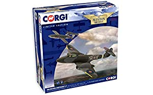 "Corgi AA27403 Meteor F.1 EE216/YQ-E T.D.Dixie Dean RAF Nº 616 Squadron y Fieseler F- 103 V-1"" Doodlebug 4th August 1944"