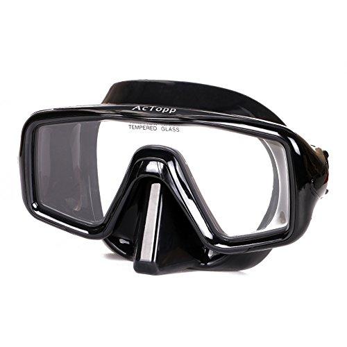 AcTopp Tauchmaske Erwachsene Taucherbrille Tauchermaske mit bruchfestem Hartglas hohe Druckfestigkeit Crashsicherheit