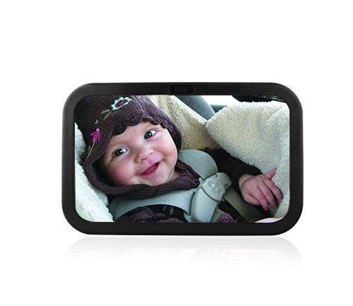 Preisvergleich Produktbild amzdeal Rücksitzspiegel für Babys, bruchsicherer Spiegel für Auto Baby mit großem Sichtfeld, Babyspiegel ohne Einzelteile/Schrauben, 360° schwenkbar, Größe 300 x 190 x2,8mm