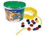 matches21 Große Perlen zum Auffädeln 245 STK. Versch. Formen & Farben als Spiel & Übung für Kleinkinder bis zu 6 Jahren