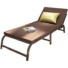 Cama plegable Nan Cama Individual Acero + colchón de Nylon 4 Colores Opcional Altura del Respaldo