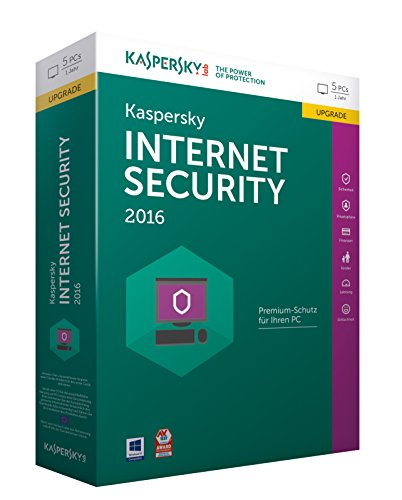 Kaspersky Internet Security 2016 Upgrade – 5 PCs / 1 Jahr