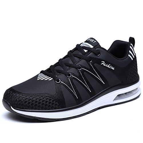 Men's Breathable PU Leather Tennis Shoes 9920 black