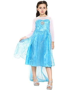 Katara Blaues Frozen Eiskönigin Elsa Kostüm-Kleid