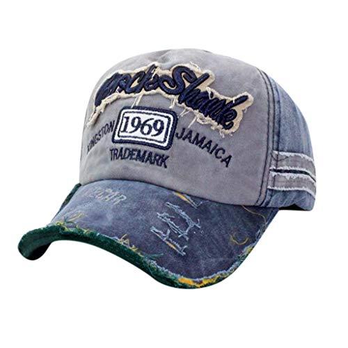 QUINTRA Hut Unisex verstellbare Denim Distressed Trucker Hat Vintage Brief Baseball ()
