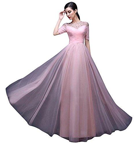 Drasawee - Robe - Moulante - Femme Rose - Rosa - Pink