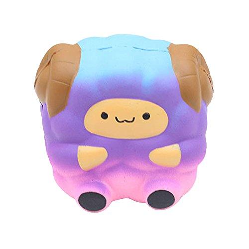 Momola Squishy Jumbo Mignon Galaxy Arc-en-Ciel Alpaga Ralentissant Montant Jouet Cadeau - Slow Rising Toy d'Animal Cadeau Anniversaire pour Enfant Garçon Fille Homme Femme Squeeze Toy (Violet)