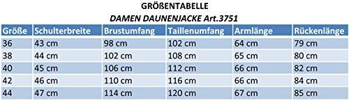 "3751 Damen Winterjacke Daunenjacke ""OLANMEAR"" mit Echtfell Pelz Kapuze schwarz Schwarz"